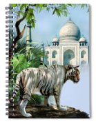 White Tiger And The Taj Mahal Image Of Beauty Spiral Notebook