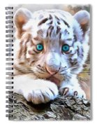 White Tiger Cub Spiral Notebook