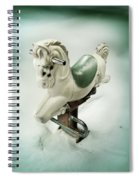 White Toy Horse Spiral Notebook