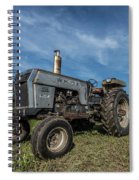 White Tractor Spiral Notebook