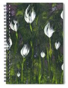 White Tulip Garden Spiral Notebook