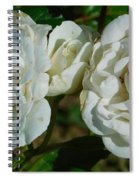 White Twin Flowers Spiral Notebook