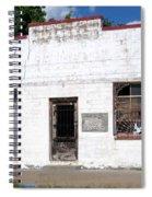 White Wahsed Spiral Notebook