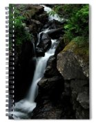 White Water Black Rocks Spiral Notebook