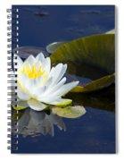 White Waterlily Spiral Notebook