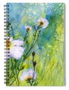 White Wild Poppies Spiral Notebook