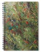 White Wildflowers-2 Spiral Notebook