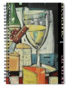 White Wine And Cheese Poster Spiral Notebook