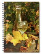 White Wine And Grape In Vineyard Spiral Notebook