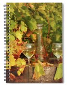 White Wine And Vineyard Autumn Season Spiral Notebook