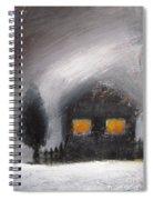 White Winter Night Spiral Notebook