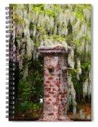 White Wisteria Spiral Notebook