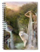 White Wolf Falls Spiral Notebook