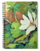 White Woodland Flower Spiral Notebook