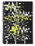 White Yellow On Black Spiral Notebook