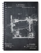 Whitehill Sewing Machine Patent 1885 Chalk Spiral Notebook