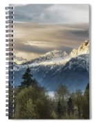 Whitehorse Sunrise, Flowing Clouds Spiral Notebook