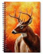 Whitetail Buck Portrait Spiral Notebook