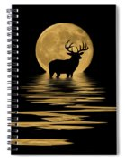 Whitetail Deer In The Moonlight Spiral Notebook