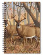 Whitetail Deer Painting - Fall Flame Spiral Notebook