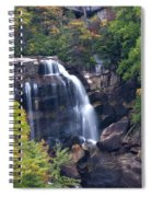 Whitewater Falls In Nc Spiral Notebook