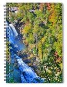 Whitewater Falls North Carolina Spiral Notebook