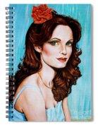 Flower In Her Hair Spiral Notebook
