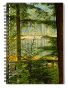Whonnock Lake Through The Trees Spiral Notebook