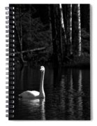 Whooper Swan In Bw 1 Spiral Notebook