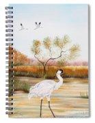 Whooping Cranes-jp3152 Spiral Notebook