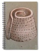 Whorl - Shell With Polka Dot Pattern - Sketch Spiral Notebook