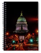 Wi State Capitol From West Washington Ave Spiral Notebook