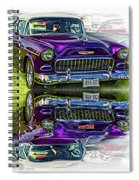 Wicked 1955 Chevy - Reflection Spiral Notebook