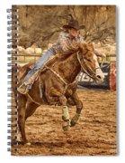 Wickenburg Senior Pro Rodeo Barrel Racing Spiral Notebook