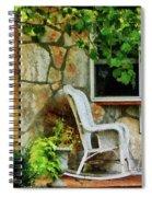Wicker Rocking Chair On Porch Spiral Notebook