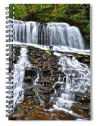 Wide Flowing Falls Spiral Notebook