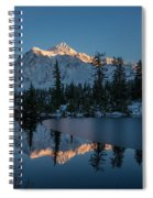 Wide Shuksans Last Light Reflected Spiral Notebook
