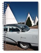Wigwam Motel Classic Car Spiral Notebook