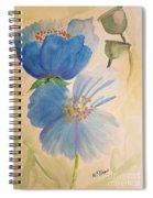 Wild Blue Poppies Spiral Notebook
