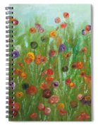 Wild Flowers Abstract Spiral Notebook