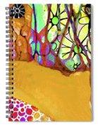 Wild Flowers Abstract Art - Sharon Cummings Spiral Notebook