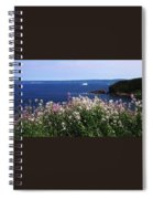 Wild Flowers And Iceberg Spiral Notebook