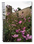 Wild Flowers At The Old Fortress Spiral Notebook
