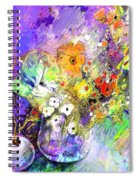 Wild Flowers Bouquet 02 Spiral Notebook
