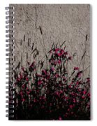 Wild Flowers On The Wall Spiral Notebook