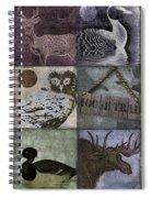 Wild Game Patchwork II Spiral Notebook