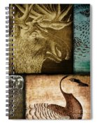 Wild Game Primitive Patchwork Spiral Notebook