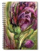 Wild Garden Tulips Spiral Notebook