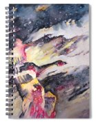 Wild Geese Flying In A Snow Storm Spiral Notebook