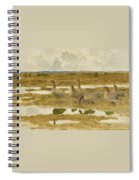Wild Geese In The Marsh Spiral Notebook